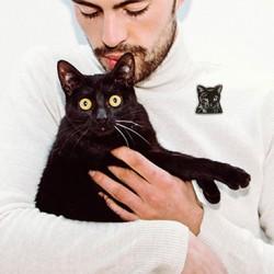 Gato común europeo negro