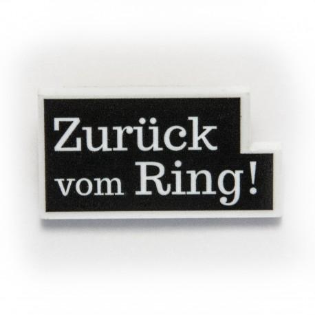 Zurück vom Ring!